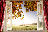 Open window onto stunning countryside
