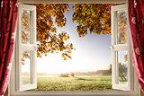 Open window onto stunning countryside