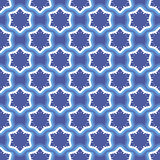 Seamless pattern with snowflakes on blue