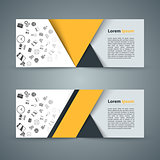 Paper banner - business infographic.