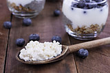 Kefir Grains Blueberries and Yogurt Chia Parfait