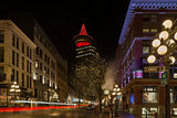 Gastown in Vancouver BC at Night
