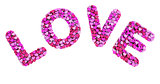 Valentine's day logo with 3d letters on white background