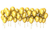 Golden party balloons row