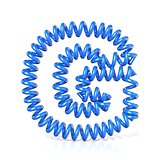 Spring, spiral cable font collection letter - G. 3D