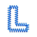 Spring, spiral cable font collection letter - L. 3D