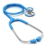 Blue stethoscope, 3D