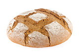Freshly baked domestic rye bread with bran.