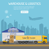 Warehouse and Logistics Concept