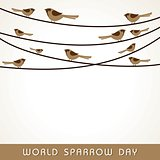 Vector illustration of World Sparrow Day stock image