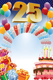Poster for twenty-fifth birthday
