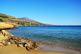 Beautiful small beach on Andros