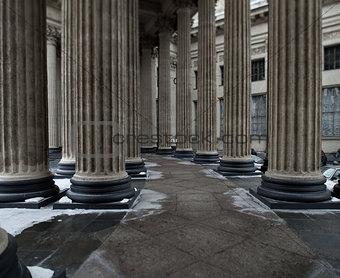 Ionic order columns