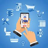 Online Plumbing Service Concept