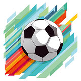 Soccer shot on goal dynamic, illustration