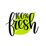 100 fresh vector lettering design