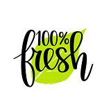 100 fresh vector lettering design
