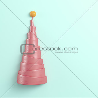 Abstract pyramid with sphere on the top on bright background