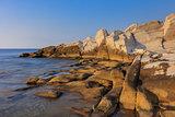 sunrise in Aliki. Thassos island, Greece