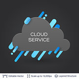 Black badge cloud sticker.