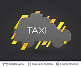 Black badge taxi car sticker.