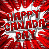 Greeting card or poster for Canada Day.