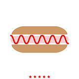 Hot dog it is icon .