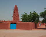 Exterior view to Grand mosque of Agadez, Niger
