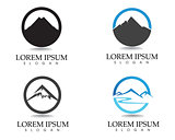 Mountain logo and symbols template icons vector app