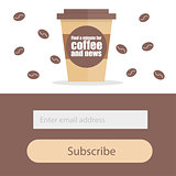 Template for subscribe to a newsletter - Coffee Modern creative concept