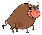 bull farm animal character cartoon illustration