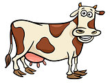 cow farm animal character cartoon illustration