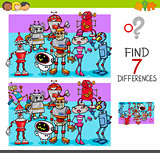 find differences with robot characters
