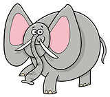 African elephant animal cartoon character
