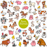 cartoon farm animal characters big set
