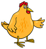 hen animal character cartoon illustration