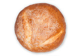 Freshly baked gluten free organic bread on white