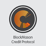 Blockmason Credit Protocol - Cryptographic Currency Symbol.