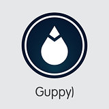 Guppy - Virtual Currency Coin Pictogram.