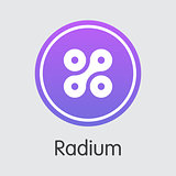 Radium Virtual Currency - Vector Symbol.
