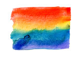 Rainbow watercolor painted background