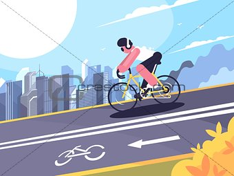 Cyclist on track for cyclists