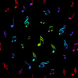 Colorful musical note seamless. Seamless pattern with music notes vector.