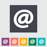 Email flat single icon.