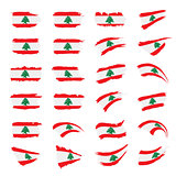 Lebanese flag, vector illustration