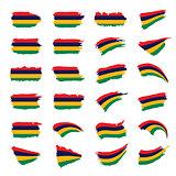 Mauritius flag, vector illustration