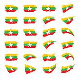 Myanmar flag, vector illustration