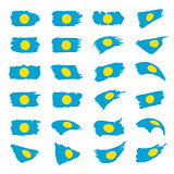 Palau flag, vector illustration