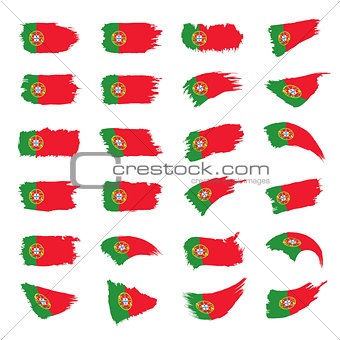 Portugal flag, vector illustration