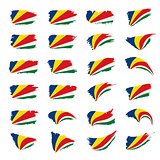 Seychelles flag, vector illustration